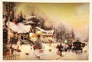 Led Wandbilder Shop : 3 st ck led wandbild beleuchtete winterlandschaft 30cm x 40cm leinwand ~ Markanthonyermac.com Haus und Dekorationen