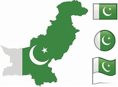 Pakistan Map Flag Vector Clip Pakistani Illustrations