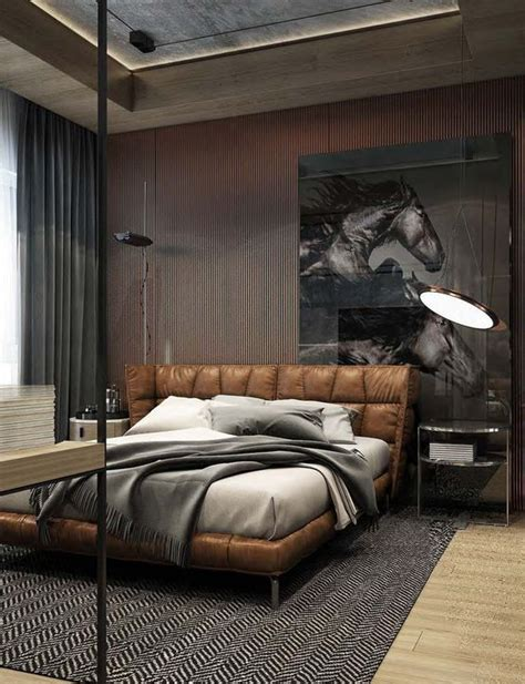 Bedroom Decorating Ideas Upholstered Bed by Brown Leather Bed With An Upholstered Headboard Sleep