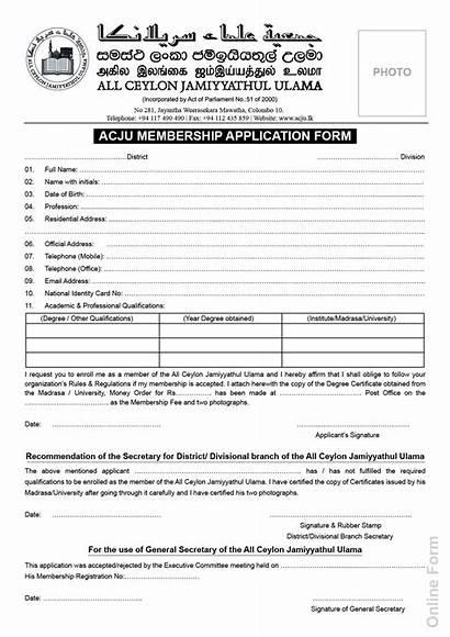 Application Forms Form English Lk