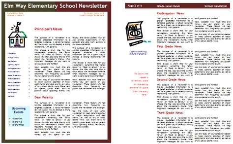 school newsletter templates  classroom  parents