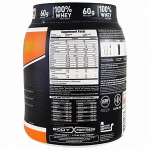 Body Fortress  Super Advanced Whey Protein Powder  Strawberry  2 Lbs  907 G