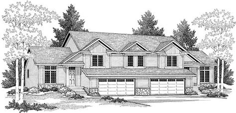 Multi Family Plan 73475 Traditional Style with 3334 Sq