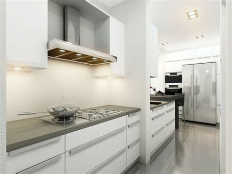 cocinas blancas  grises los  disenos mas actuales