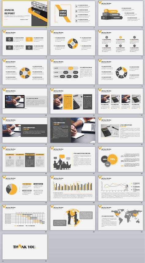 powerpoint templates cartas 25 infographic annual report powerpoint templates