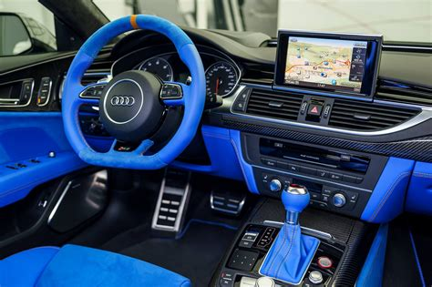 exclusive audi rs   porsches voodoo blue color