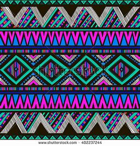 Neon Color Tribal Navajo Vector Seamless Stock Vector
