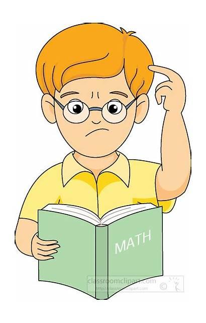 Math Clipart Clip Confused Mathematics Boy Reading