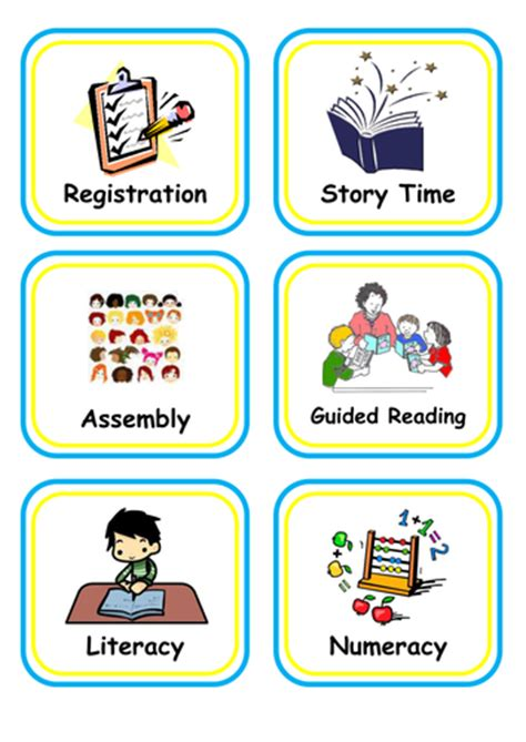 visual timetable  vemms teaching resources tes