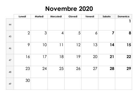 calendario novembre calendariosu