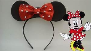 Diadema de minnie mouse para recuerdo en fiestas de niñas YouTube