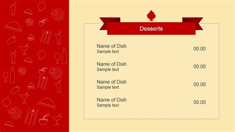 powerpoint templates cartas flat restaurant menu powerpoint template slidemodel