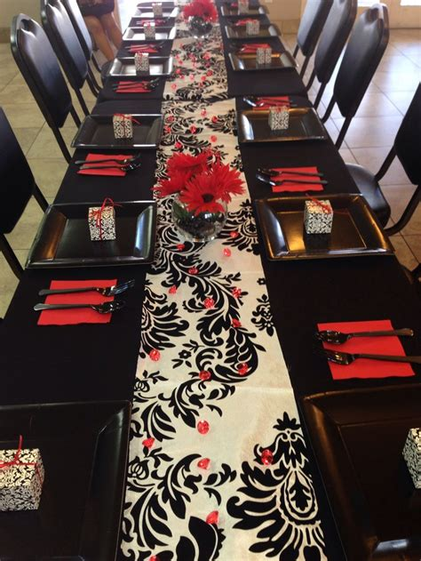 red bridal showers ideas  pinterest gold