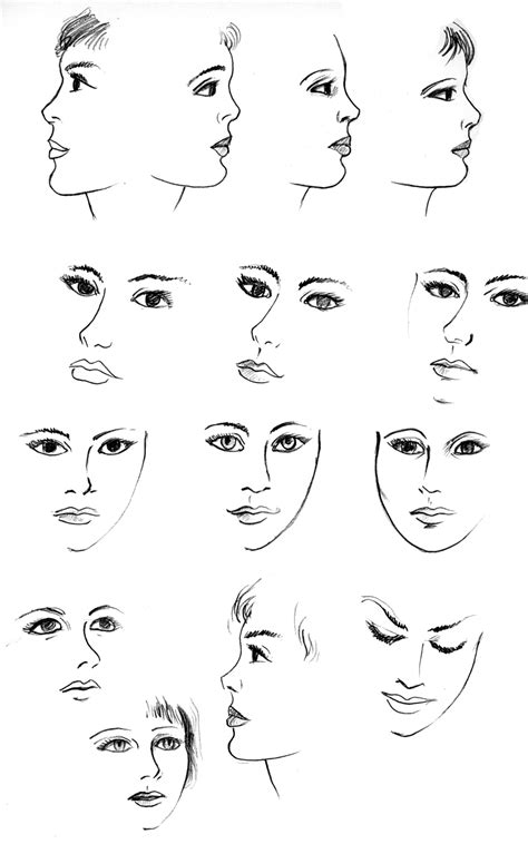 art  products girly doodle faces