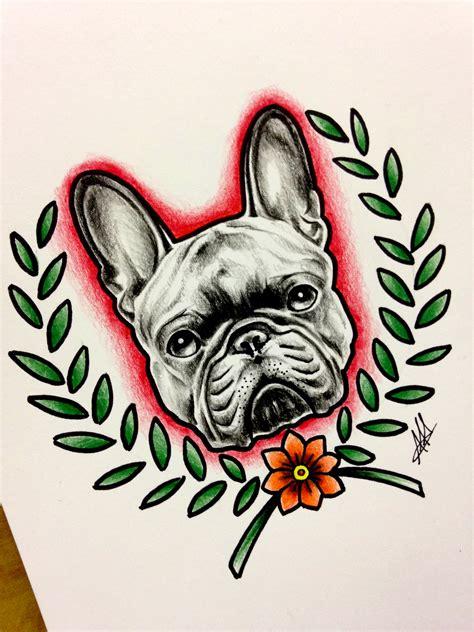 frenchbulldog bulldog dog animal tattoo drawing