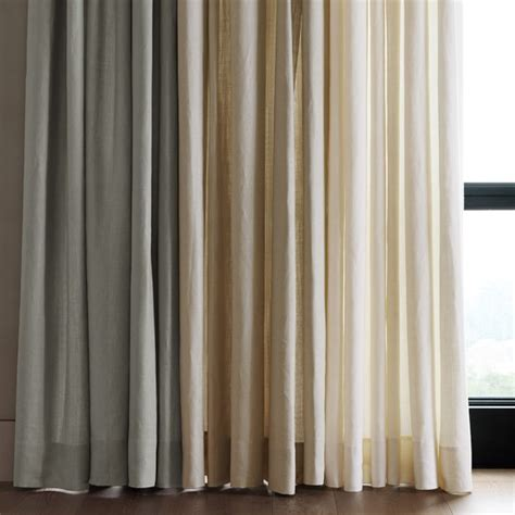 signature linen pinch pleat drape ivory williams sonoma