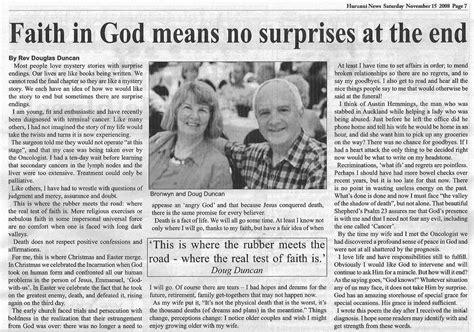 news article 187 2008 187 november doug s diary