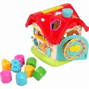 Maison D éveil : jouet d 39 veil b b maison formes de vitaminag ~ Teatrodelosmanantiales.com Idées de Décoration
