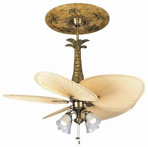 Brass fan light kit tropical ceiling accessories