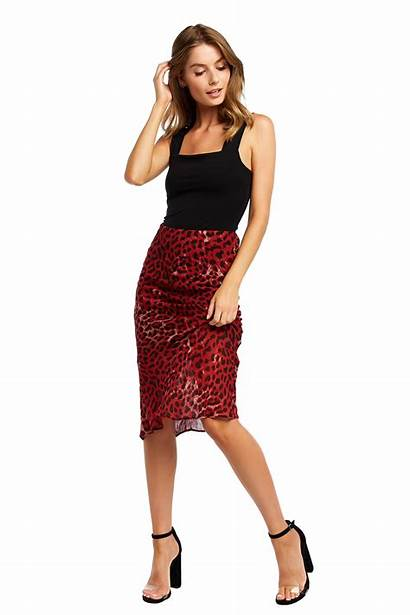 Skirt Skirts Leopard Bardot Clothing Denim Ladies