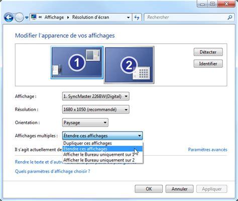 ordinateur de bureau hp windows 7 affichage multi écrans windows 7 aidewindows