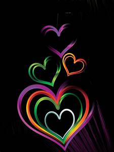 Colorful Heart Backgrounds | Colorful Heart on Black ...