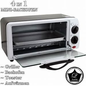 Toaster Mit Backofen : 4in1 minibackofen backofen grill toaster miniofen ofen inkl backblech rb 9007 ebay ~ Whattoseeinmadrid.com Haus und Dekorationen