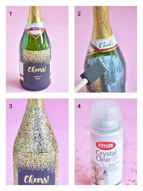 How to Make Giant Glitter Champagne Bottles + Giant Bottle ...