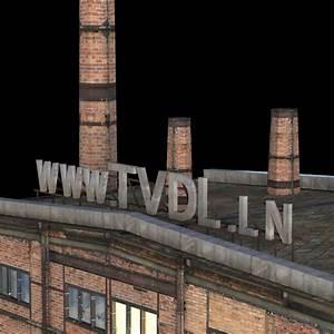 Abandoned Factory Building 149 3D Model MAX OBJ 3DS FBX ...