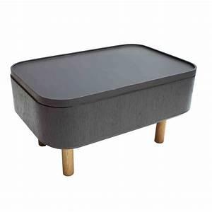 Table Basse D Appoint : table basse d 39 appoint grise en bois hat 1 sign e bellila ~ Teatrodelosmanantiales.com Idées de Décoration