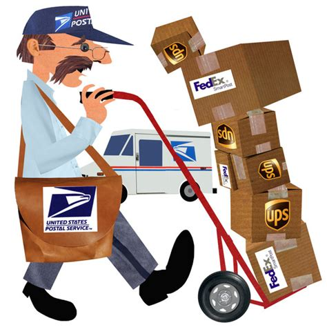 mail postal fedex ups delivery packages clipart package office service usps united states moving carrier cheaper route clip shipping fed