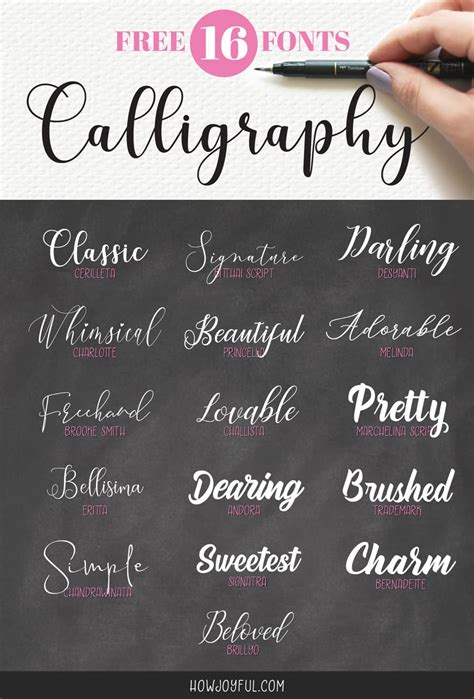 top   calligraphy fonts hand lettering