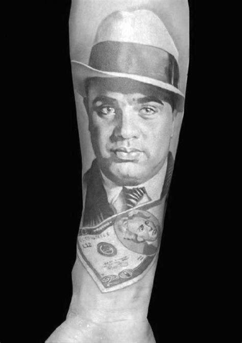 50 Al Capone Tattoos For Men - Gangster Design Ideas