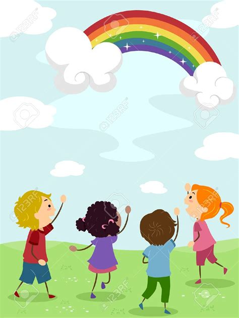 rainbow clipart child pencil and in color rainbow