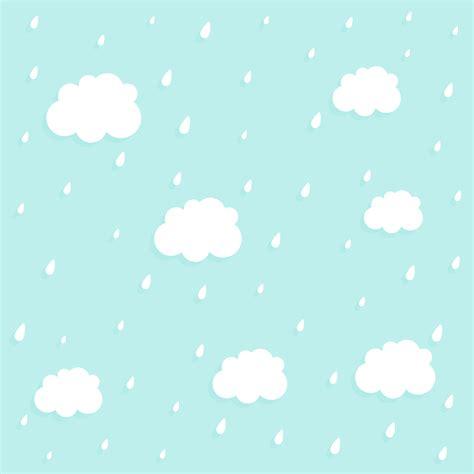 cute cloud  rain pattern background