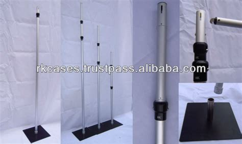 adjustable pipe and drape rk drape support adjustable upright pole with base plate