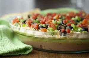 Fiesta 7 Layer Dip Wishes and Dishes