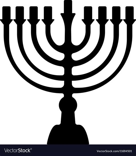 menorah symbol  judaism isolated royalty  vector image
