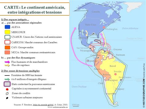 Carte Du Monde Continent Americain by L Am 233 Rique Puissance Du Nord Affirmation Du Sud Ppt