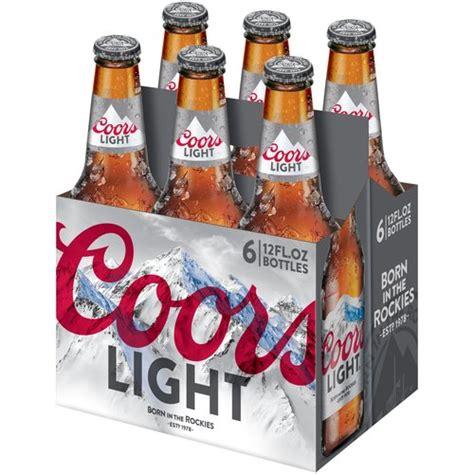 coors light 6 pack coors light beer 12 fl oz 6 pack walmart com