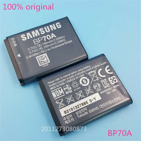 Battery Samsung Bp 70a By Yesmart genuine original samsung bp70a battery for sl50 es65 es70