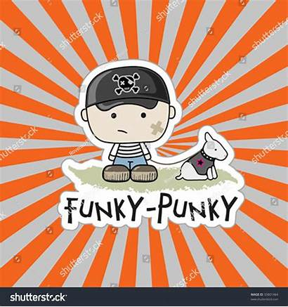 Funky Vector Illustration Punky Shutterstock Lightbox Save