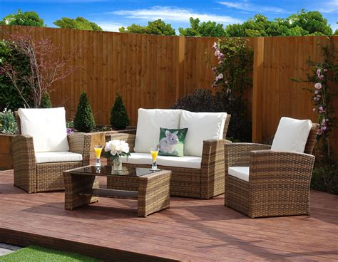 Rattan Garden Sofa Sets Uk by 4 Algarve Rattan Sofa Lounge Set For Patios