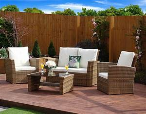 Rattan Lounge Set : 4 piece algarve rattan sofa lounge set for patios conservatories and decks only from abreo ~ Orissabook.com Haus und Dekorationen