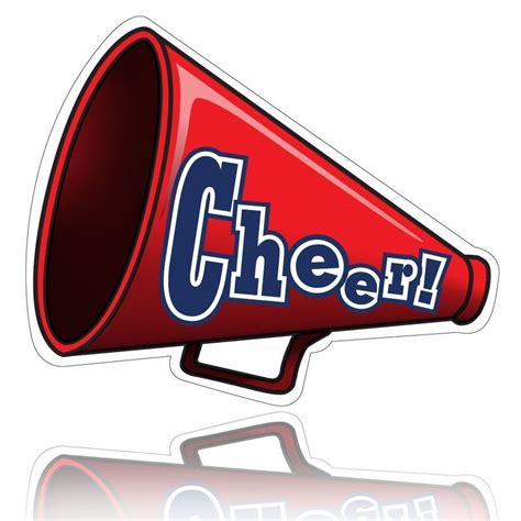 megaphone clipart athletics cheerleading metairie park country day school