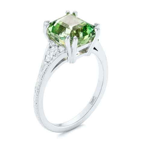 Custom Green Tourmaline And Diamond Engagement Ring #103593. Dress Rings. Bridal Wedding Rings. Durable Engagement Rings. Solid Gold Wedding Rings. Bezel Diamond Engagement Rings. Beautiful Engagement Rings. Chic Engagement Rings. Dot Wedding Rings