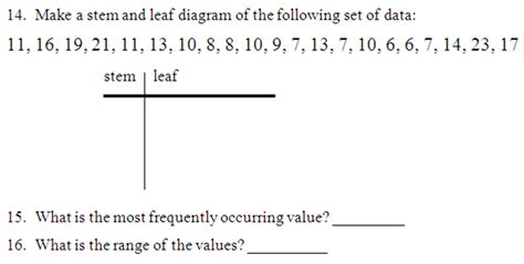 Stem And Leaf Plot Worksheets How To Do A Stem Leaf Diagram likewise Quiz   Worksheet   Stem and Leaf Plots   Study also Stem and Leaf Plot Worksheet Pdf   Briefencounters Worksheet together with Reading Stem and Leaf Plots  Gr  4    TeacherVision also  additionally  together with Stem and Leaf Plot Worksheets additionally Free Stem And Leaf Plot Worksheets Reading Graphs Line Grade in addition Free Math Worksheets Stem And Leaf Plot Science For All in addition Stem And Leaf Plot 6th Grade   Lessons   Tes Teach together with Stem Leaf Plot Worksheets   Meningrey as well Stem and Leaf Plot Worksheet   Problems   Solutions further  as well Stem And Leaf Plot Worksheet Math Download By Tablet Desktop furthermore Quiz   Worksheet   Stem and Leaf Plots   Study further . on stem and leaf plot worksheets