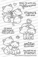 Nook Stamps Newton Designs Sweetheart Coloring Stamp Newtons Pages Newtonsnookdesigns Cat Sold sketch template