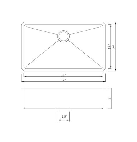 single kitchen sink dimensions miseno mno163219sr 16 stainless steel 32 quot undermount 5260
