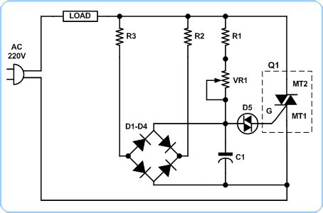 Triac Circuit With Voltage Divider Page
